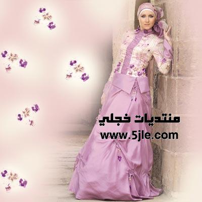 فساتين زفاف محجبات 2012