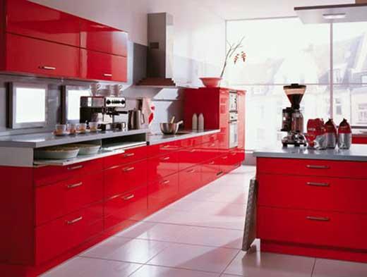 مطابخ باللون الاحمر 2012 مطابخ