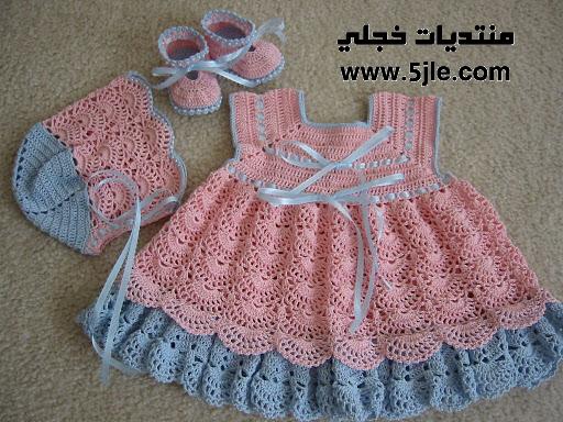 ملابس اطفال بالكروشيه ملابس للنونو