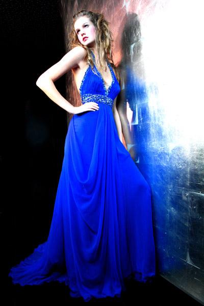 فساتين باللون الازرق 2012 فساتين