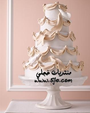 كيكات زفاف رومانسيه 2012