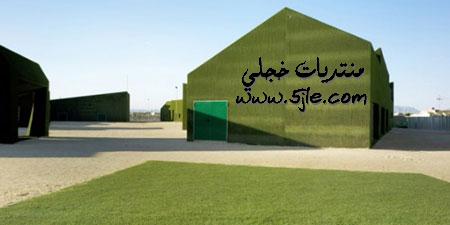مدرسه اسبانيه جدرانها الاعشاب